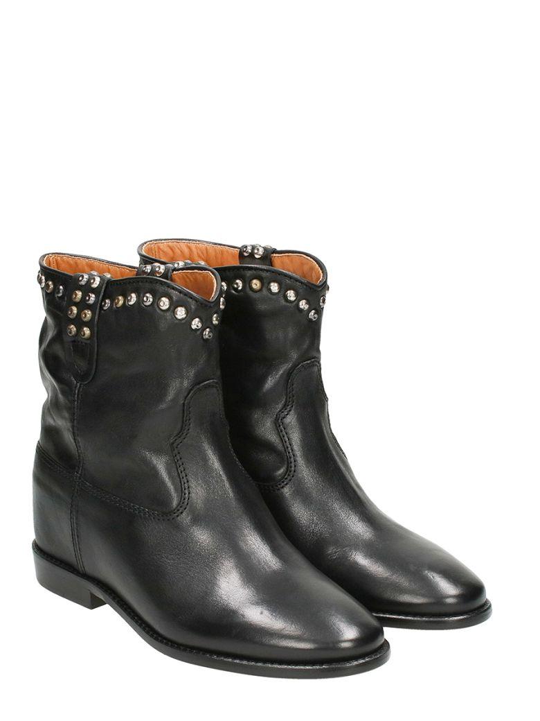isabel marant cluster hidden wedge western boot black modesens. Black Bedroom Furniture Sets. Home Design Ideas