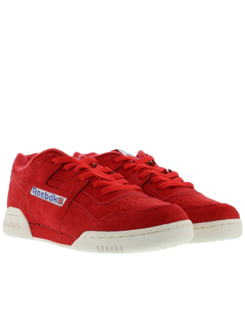 reebok workout plus vintage primal red chalk white bd3383 mens sz ... 25bcc67a3