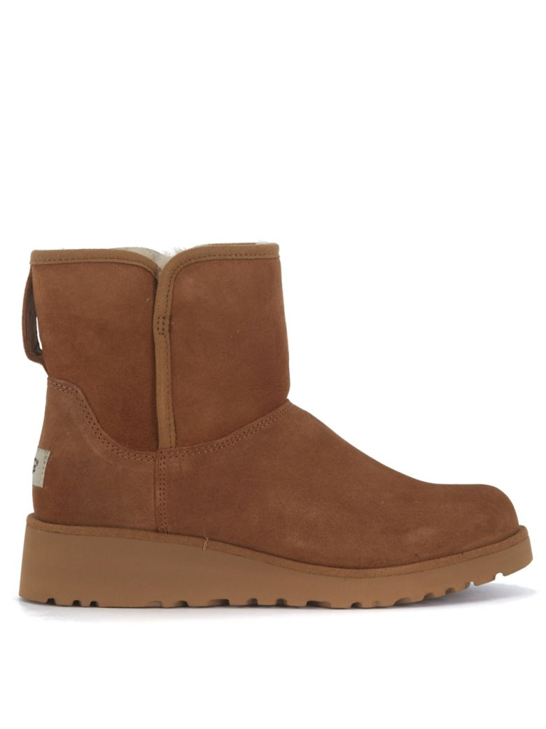 Ugg Suedes UGG KRISTIN MINI ANKLE BOOTS IN BROWN SUEDE
