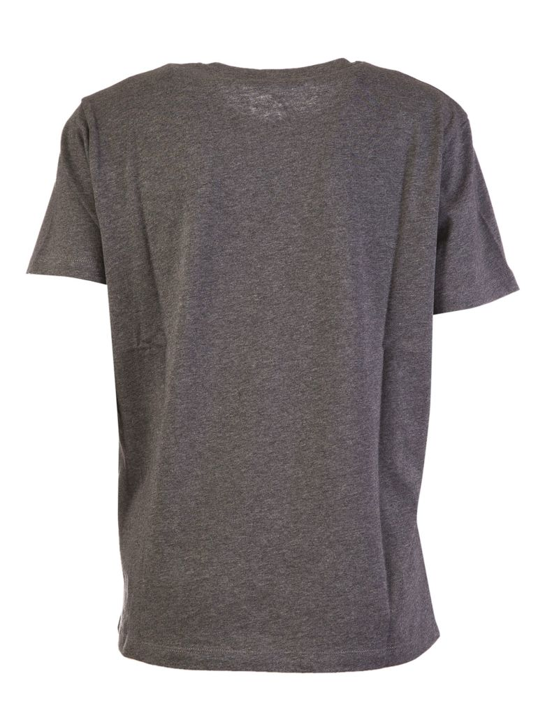 Paco rabanne logo embroidered t shirt in grey modesens for T shirt logo embroidery