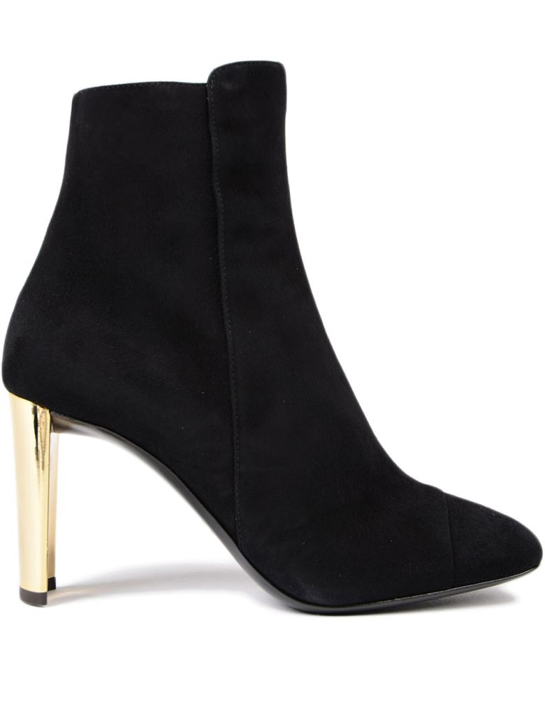 Jessica Black Suede Ankle Boots