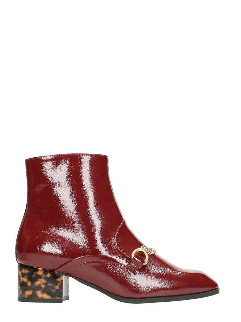 Stella Mccartney  Stella McCartney Skite Borgundy Faux-leather Ankle Boots
