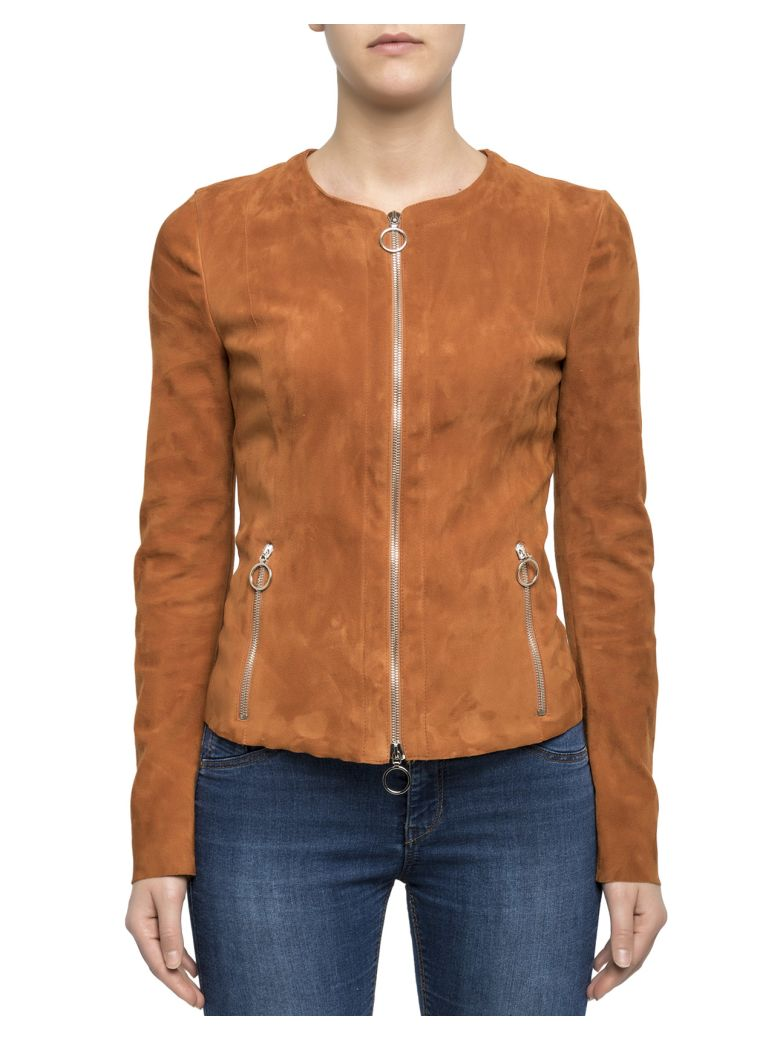Drome Brown Suede Jacket