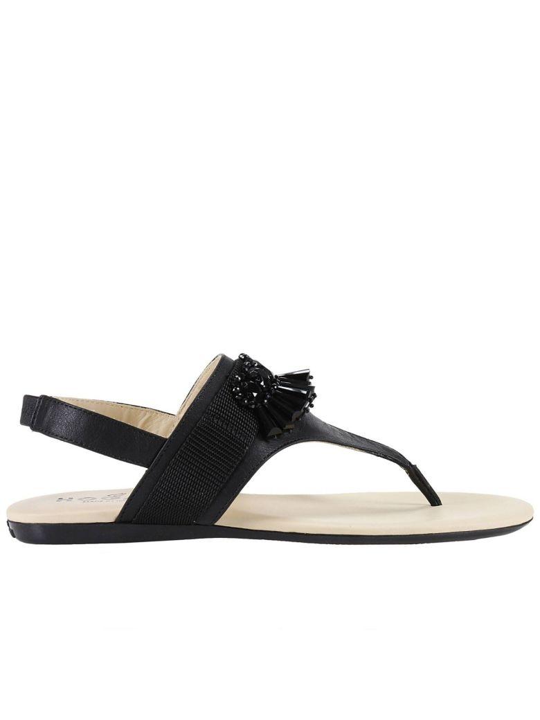 HOGAN Flat Sandals Shoes Women in Black
