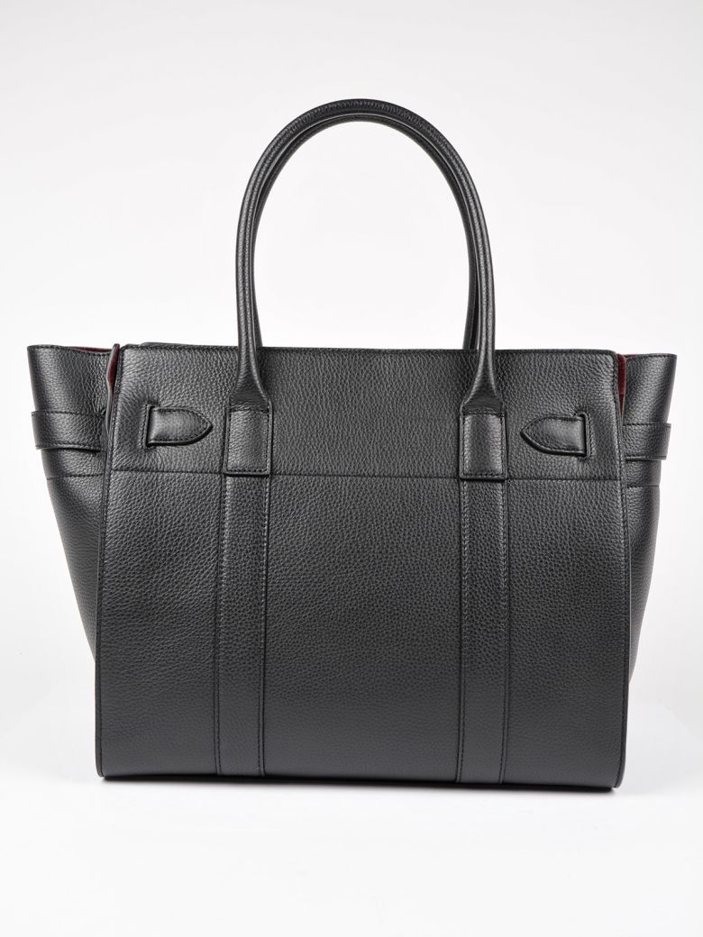 mulberry bayswater tote in black modesens