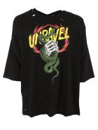 Ben Taverniti Unravel Project Distressed Snake Jersey T-shirt