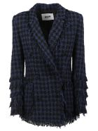 MSGM Hounds-tooth Tweed Jacket