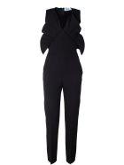 MSGM Ruffle-trimmed Crepe Jumpsuit