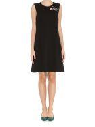 Dolce & Gabbana Patch Details Wool Dress