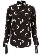 Moon Print Silk Shirt