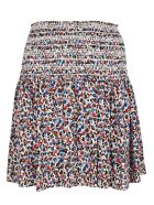 Tory Burch Wildflower Smocked Beach Skirt