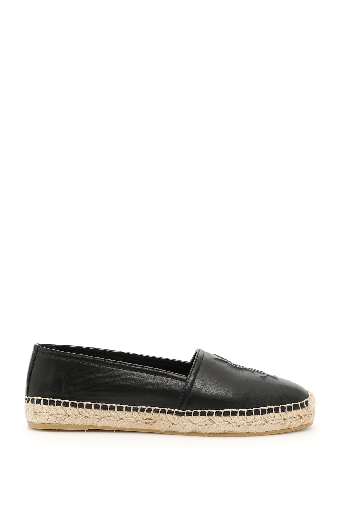 Outlet Pre Order logo embossed espadrilles - Black Saint Laurent Free Shipping Clearance Store Buy Cheap Latest Collections MThUX4g6