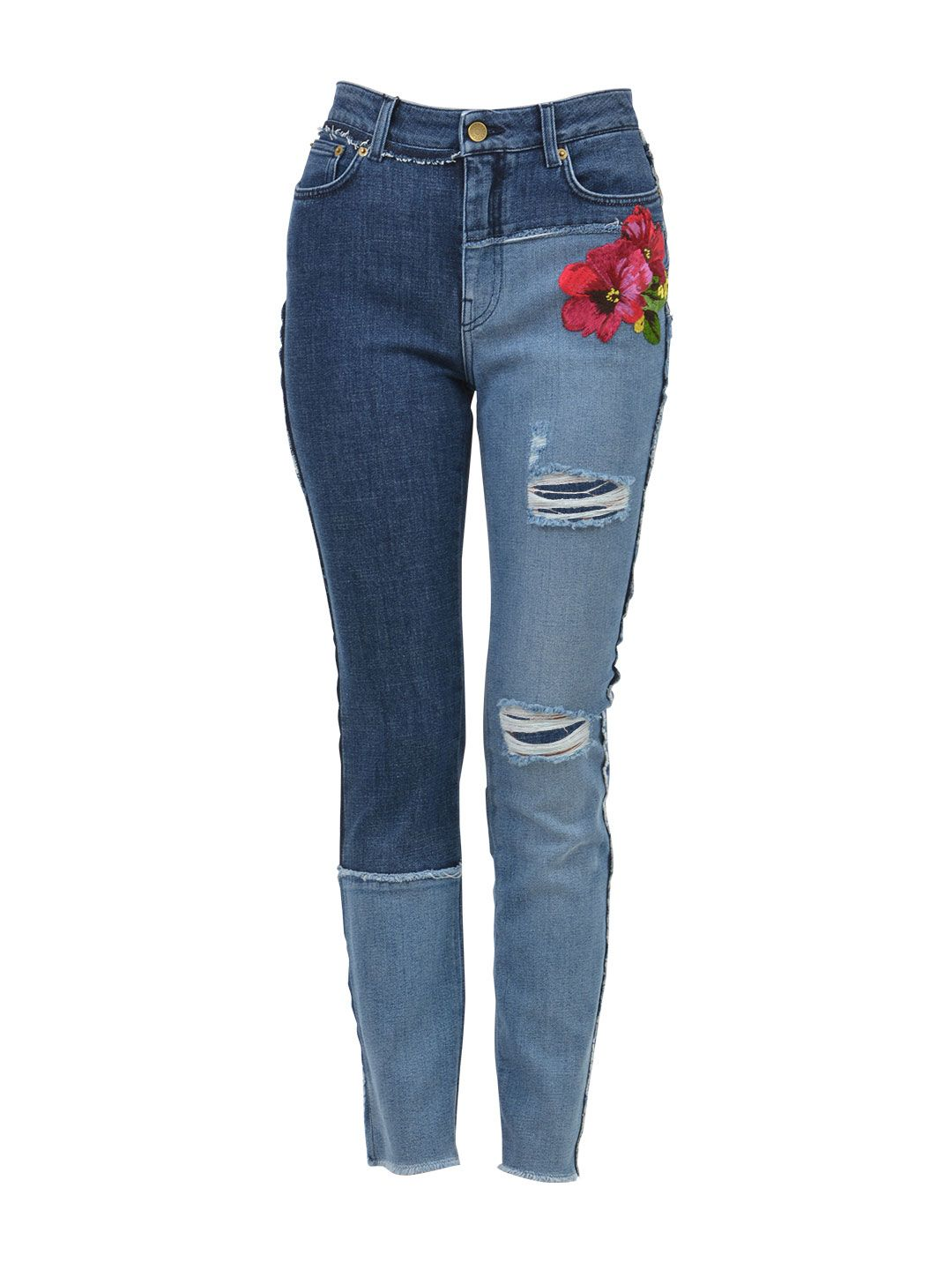 Dolce & Gabbana Embroidered Skinny Jeans