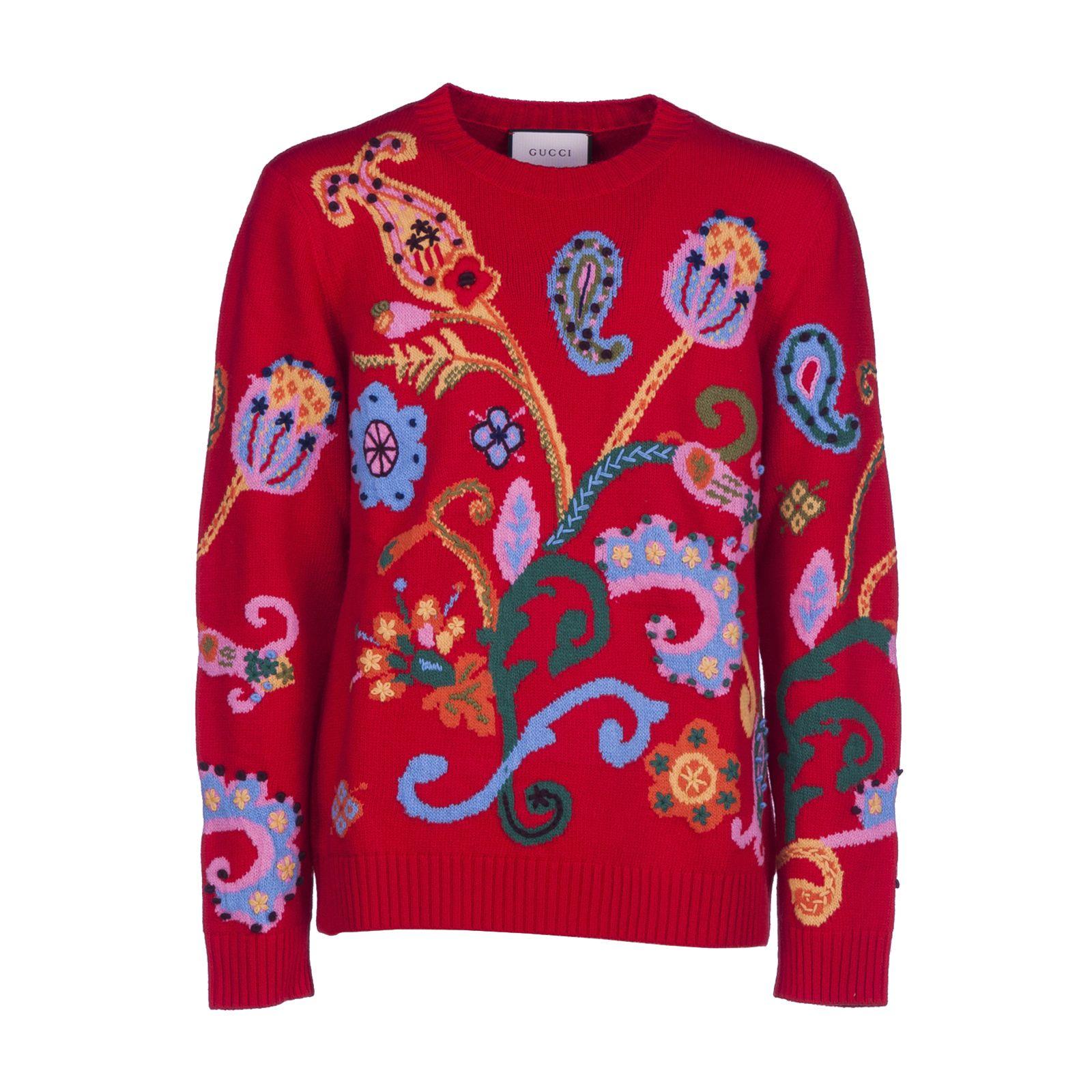 Gucci Paisley Intarsia Sweater