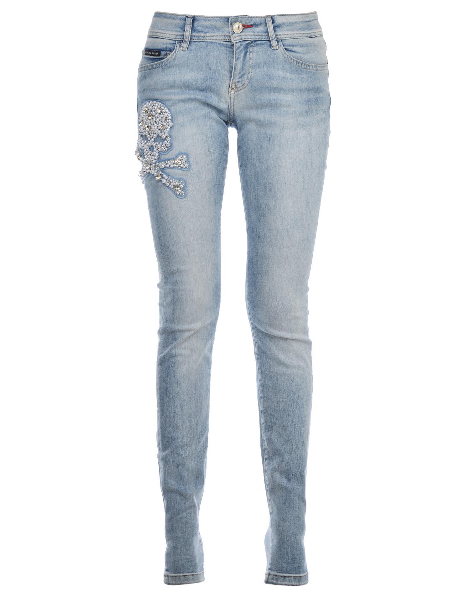 philipp plein philipp plein stretch cotton jeans blue. Black Bedroom Furniture Sets. Home Design Ideas