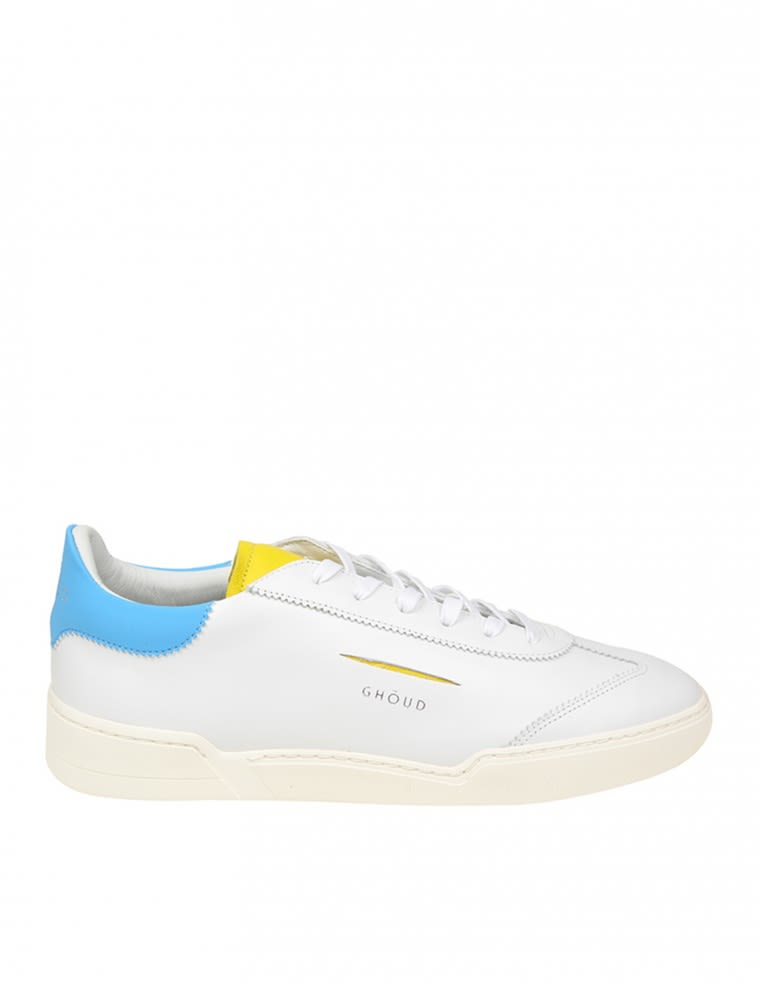 l01m Ghoud Sneakers In White Leather
