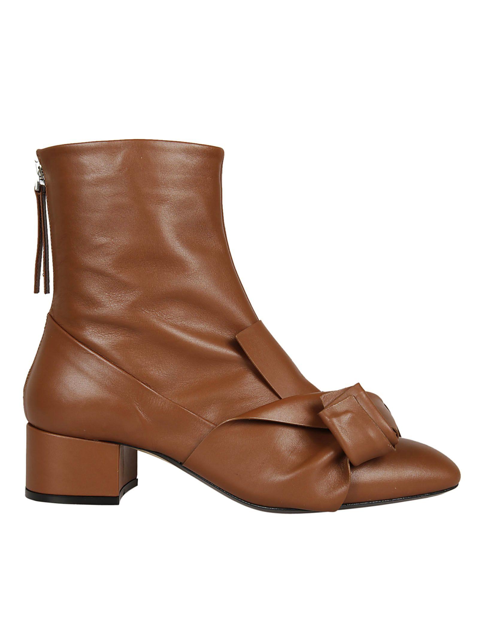 N.21 N 21 Folded Ruffle Ankle Boots
