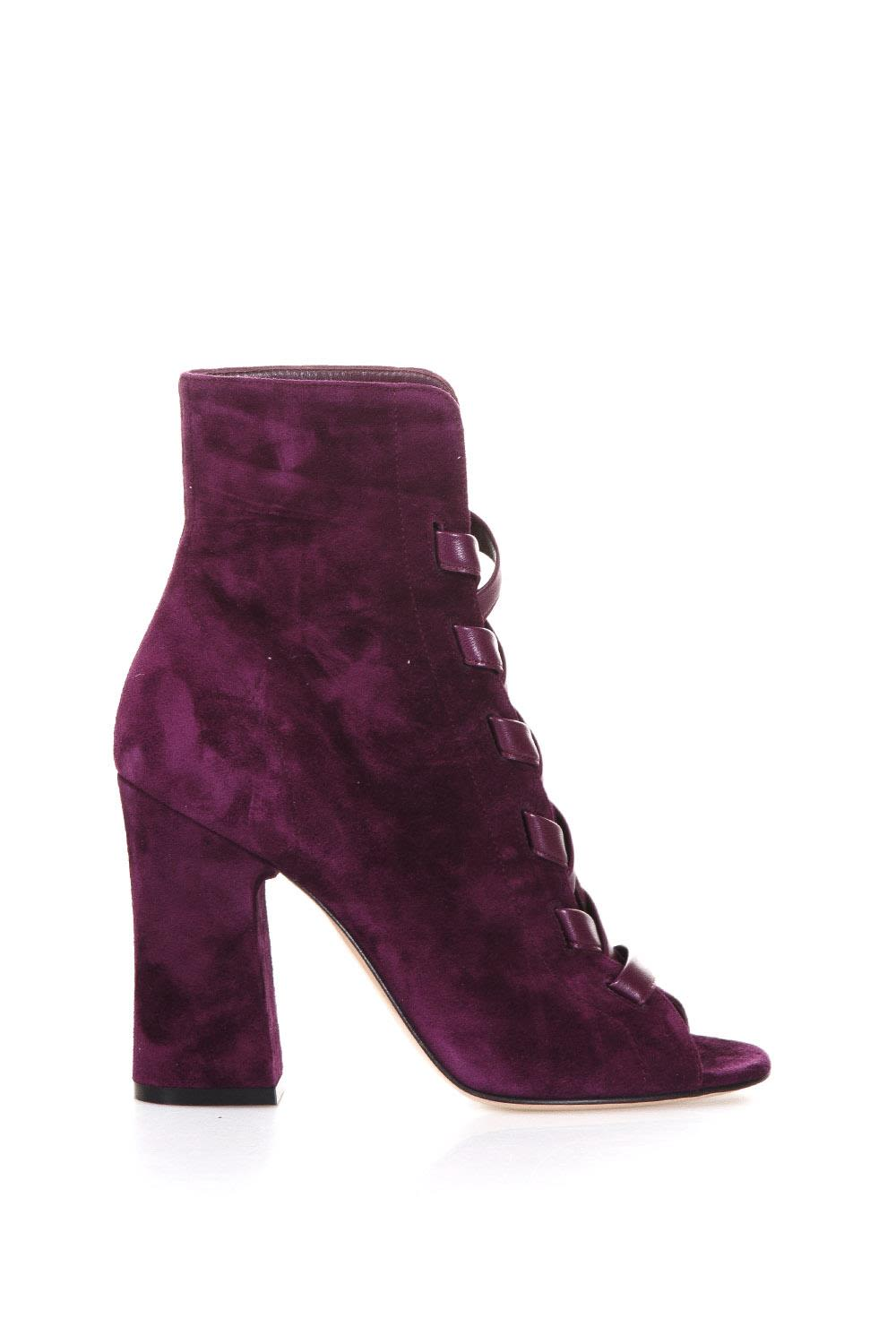 Gianvito Rossi Brooklin Suede Open Toe Boots