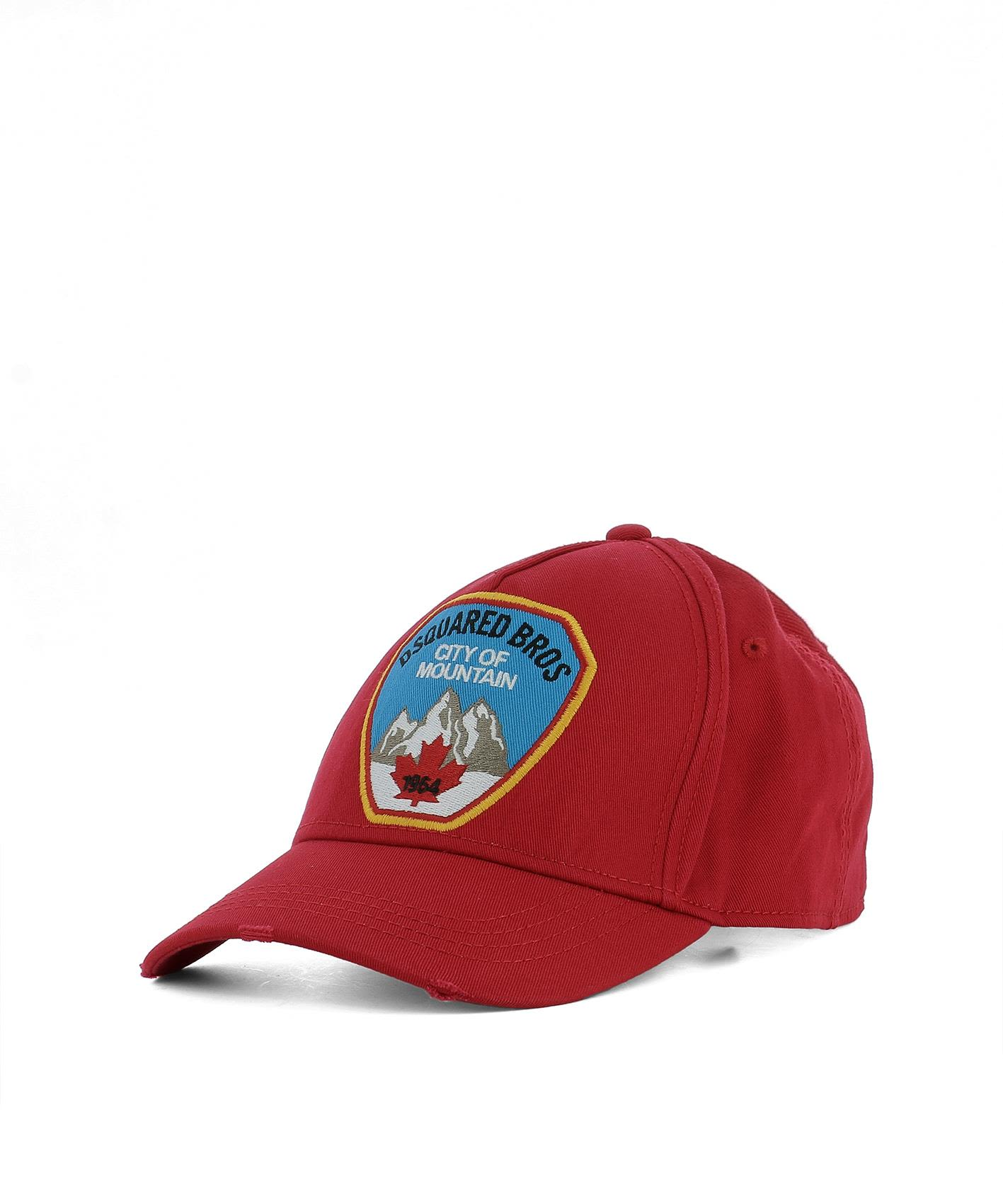 Dsquared2  RED COTTON HAT
