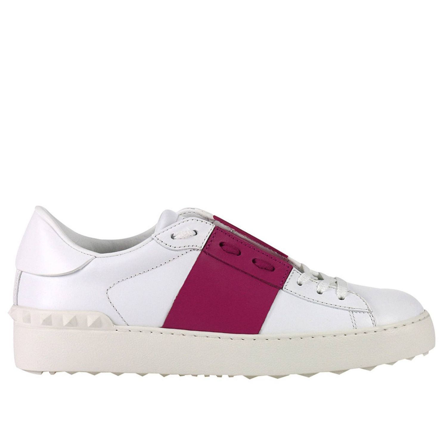 Sneakers Rockstud Open Sneakers With Tone On Tone Studs And Contrast Band