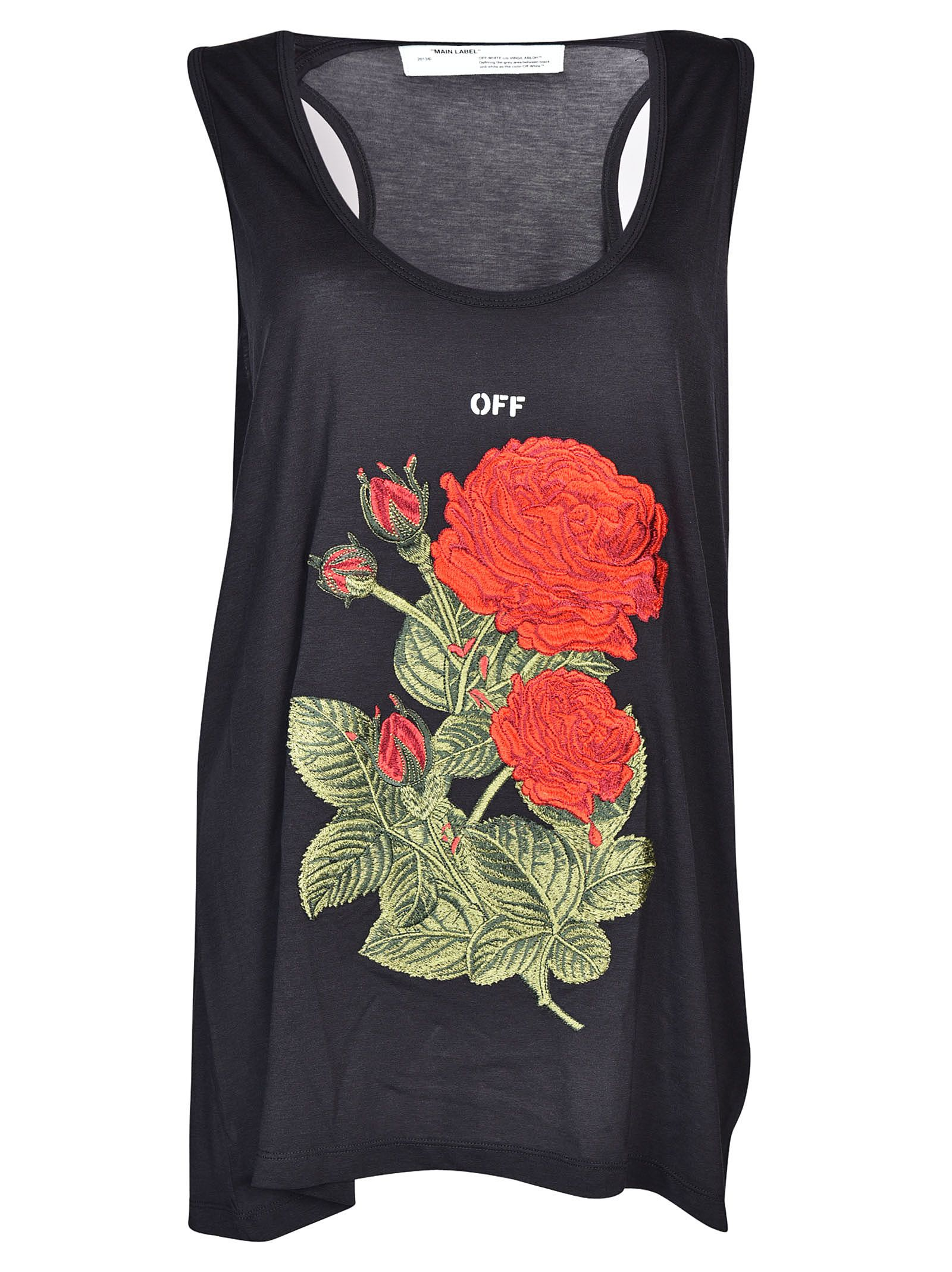Off-white Rose Tank Top