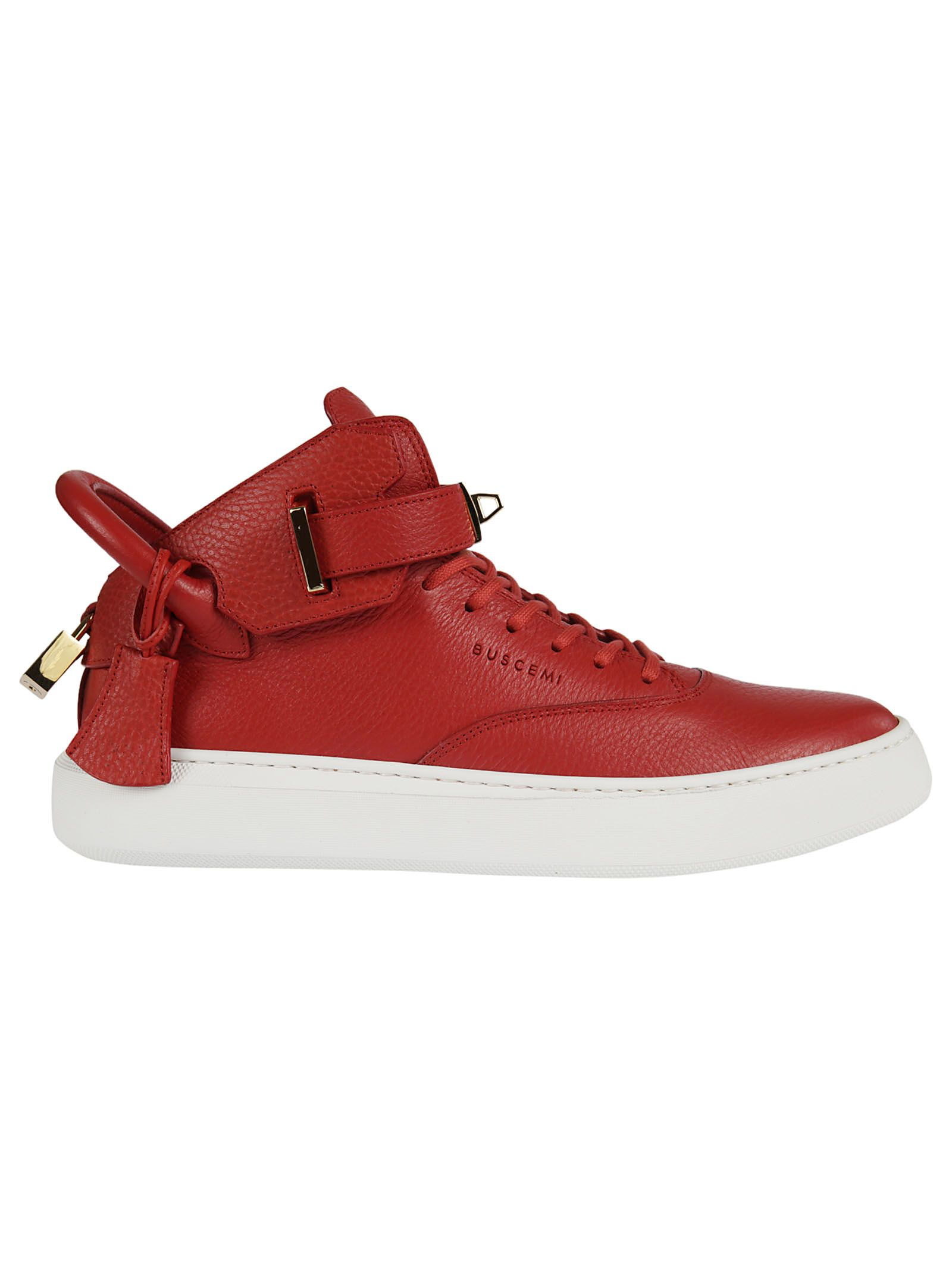 Buscemi Ankle Strap Hi-top Sneakers
