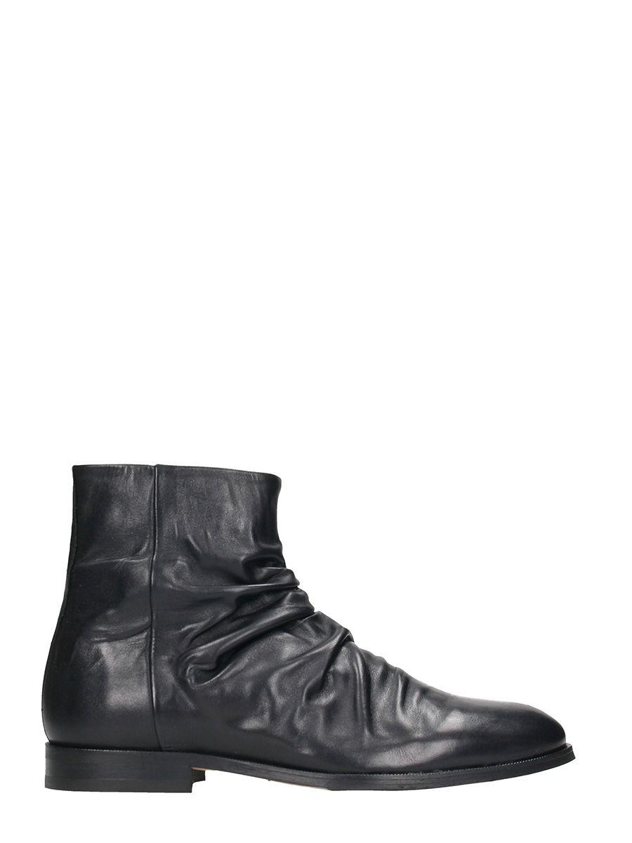 Royal Republiq Cast Wrinkle Black Leather Boots