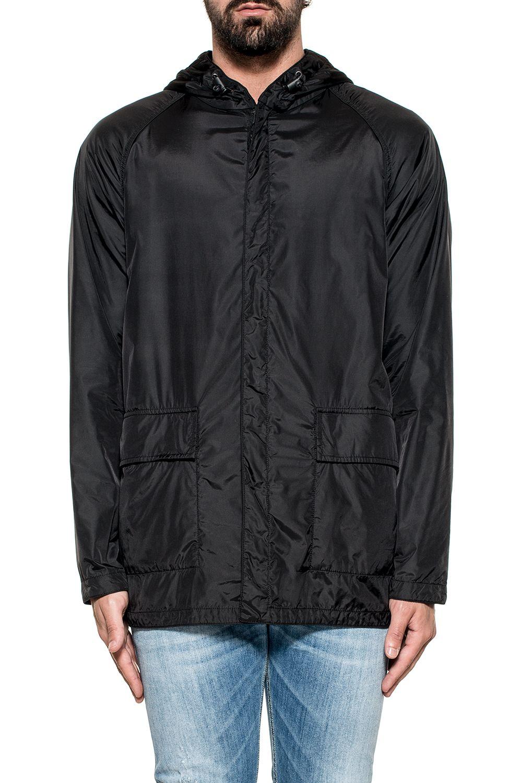 Black Peschereccio Hooded Reverse Jacket