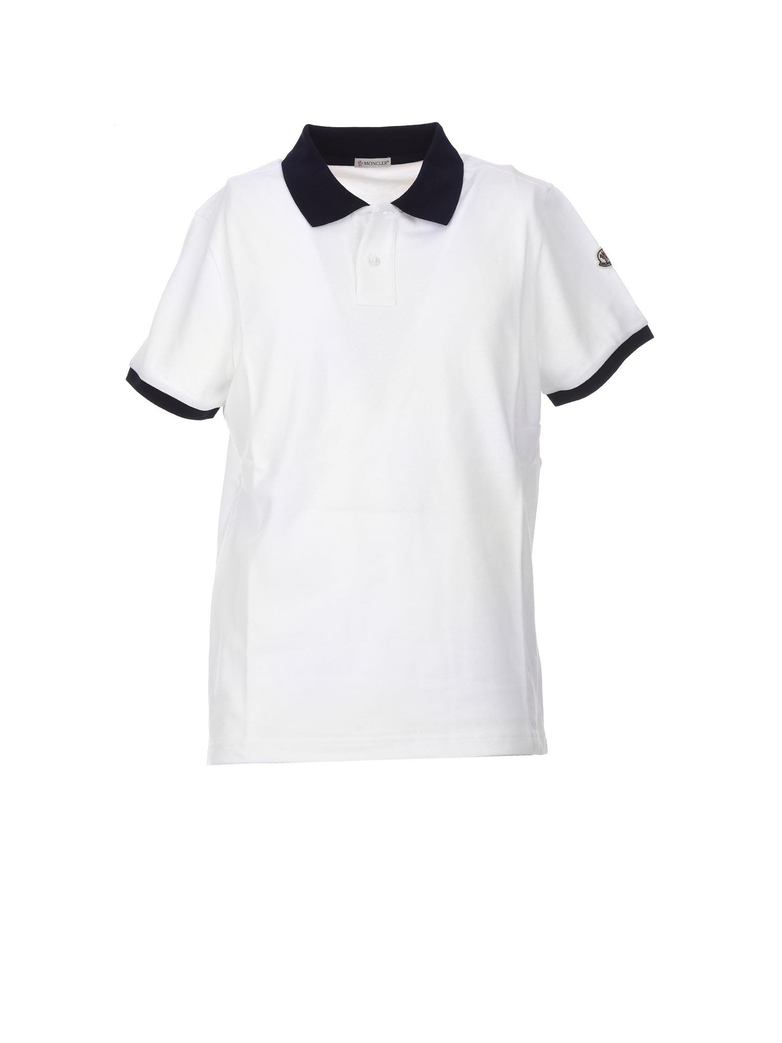 Moncler White Polo Shirt