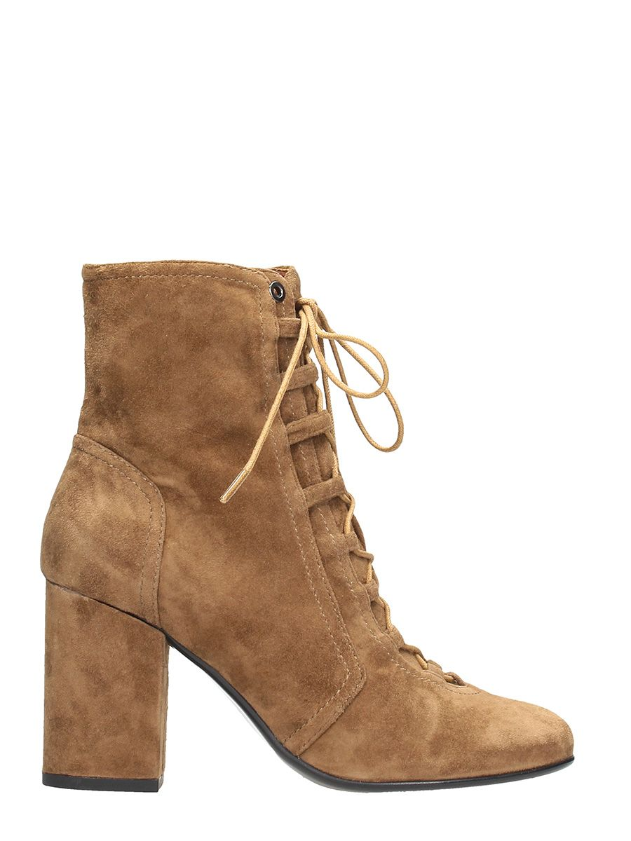Lola Cruz Brown Suede Ankle Boots