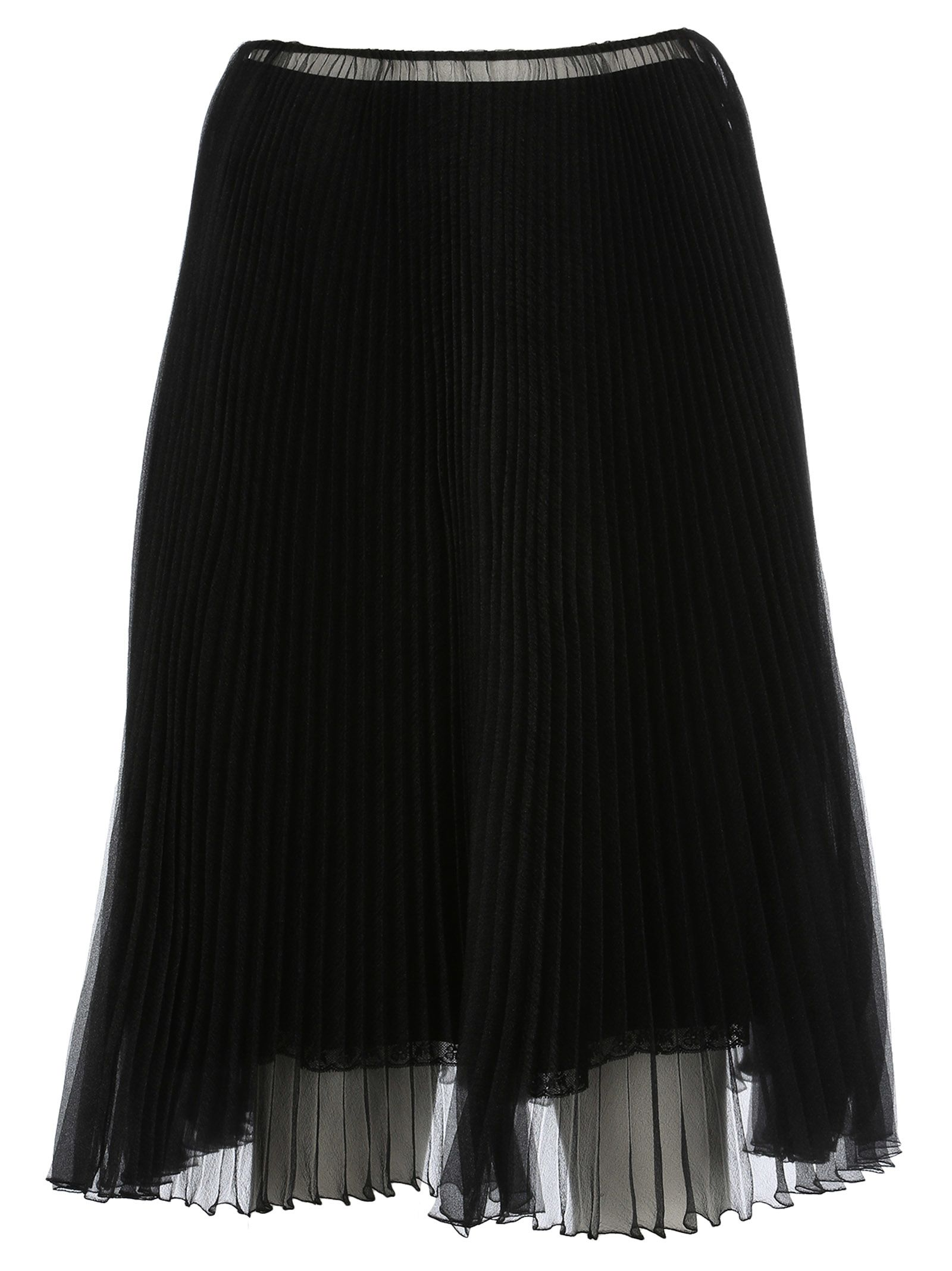 Prada Organza Plissé A-line Skirt