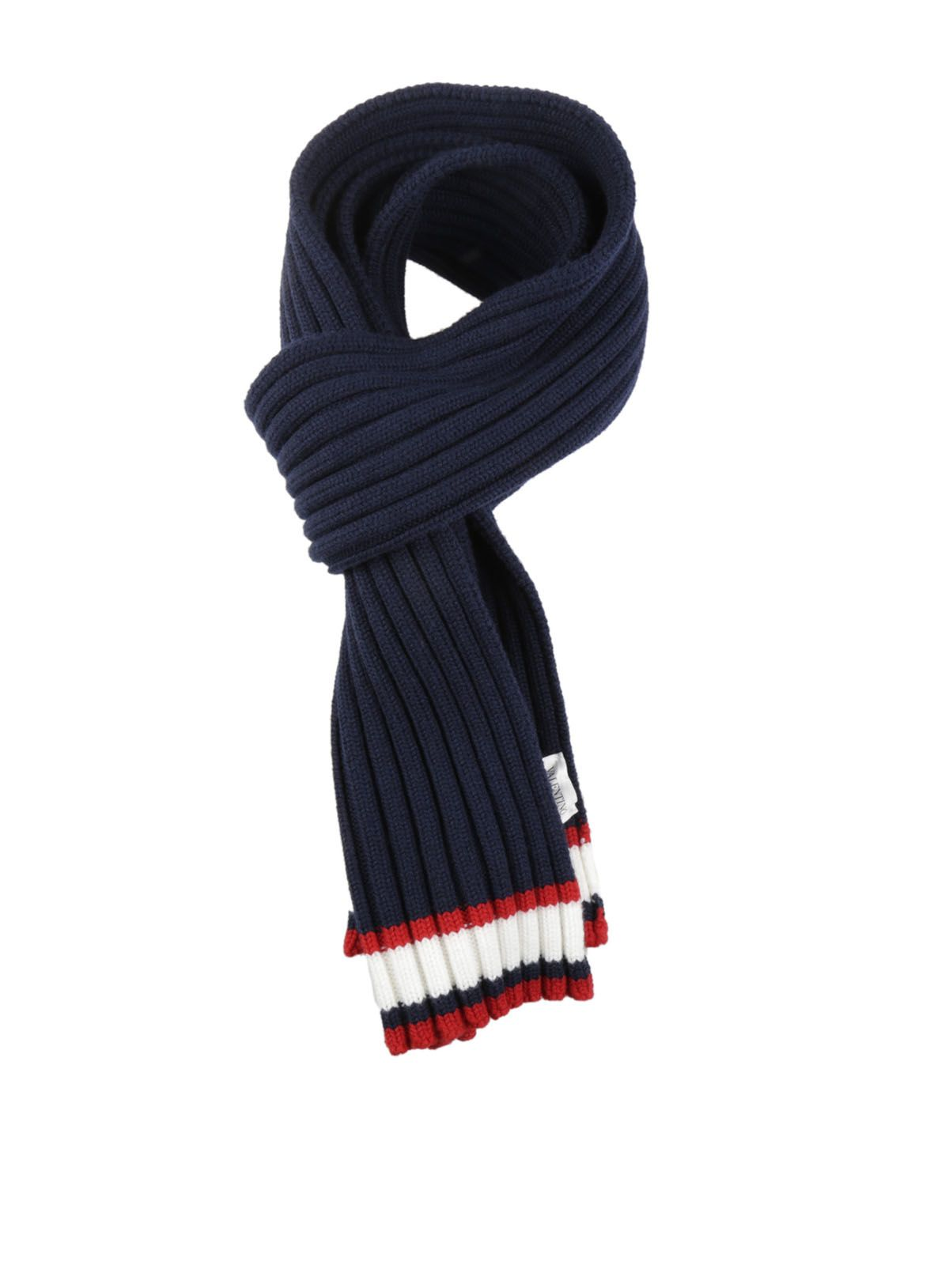 Valentino Ribbed Knit Scarf