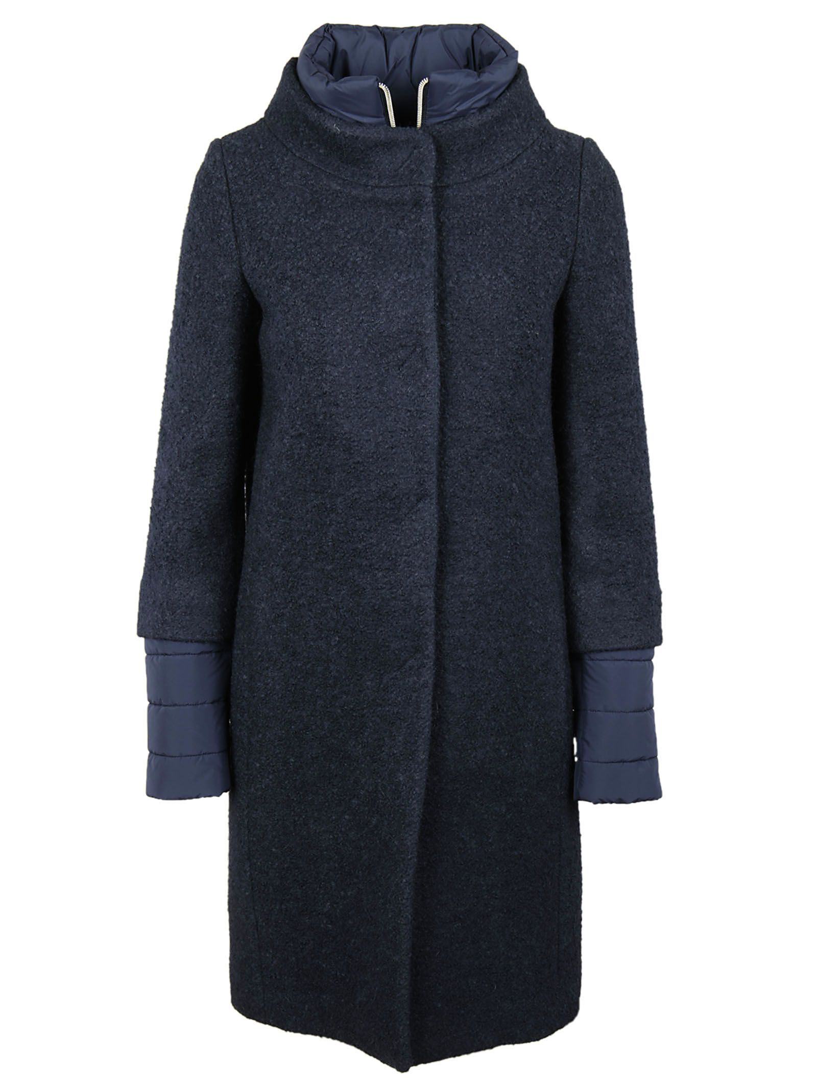 Herno Boucle Double Breasted Coat