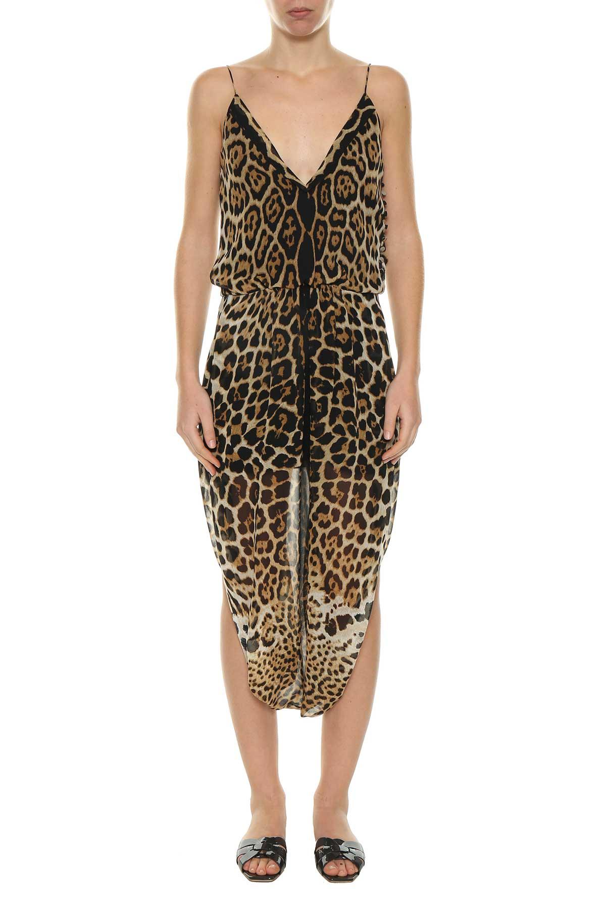 Saint Laurent Saint Laurent Leopard Print Dress