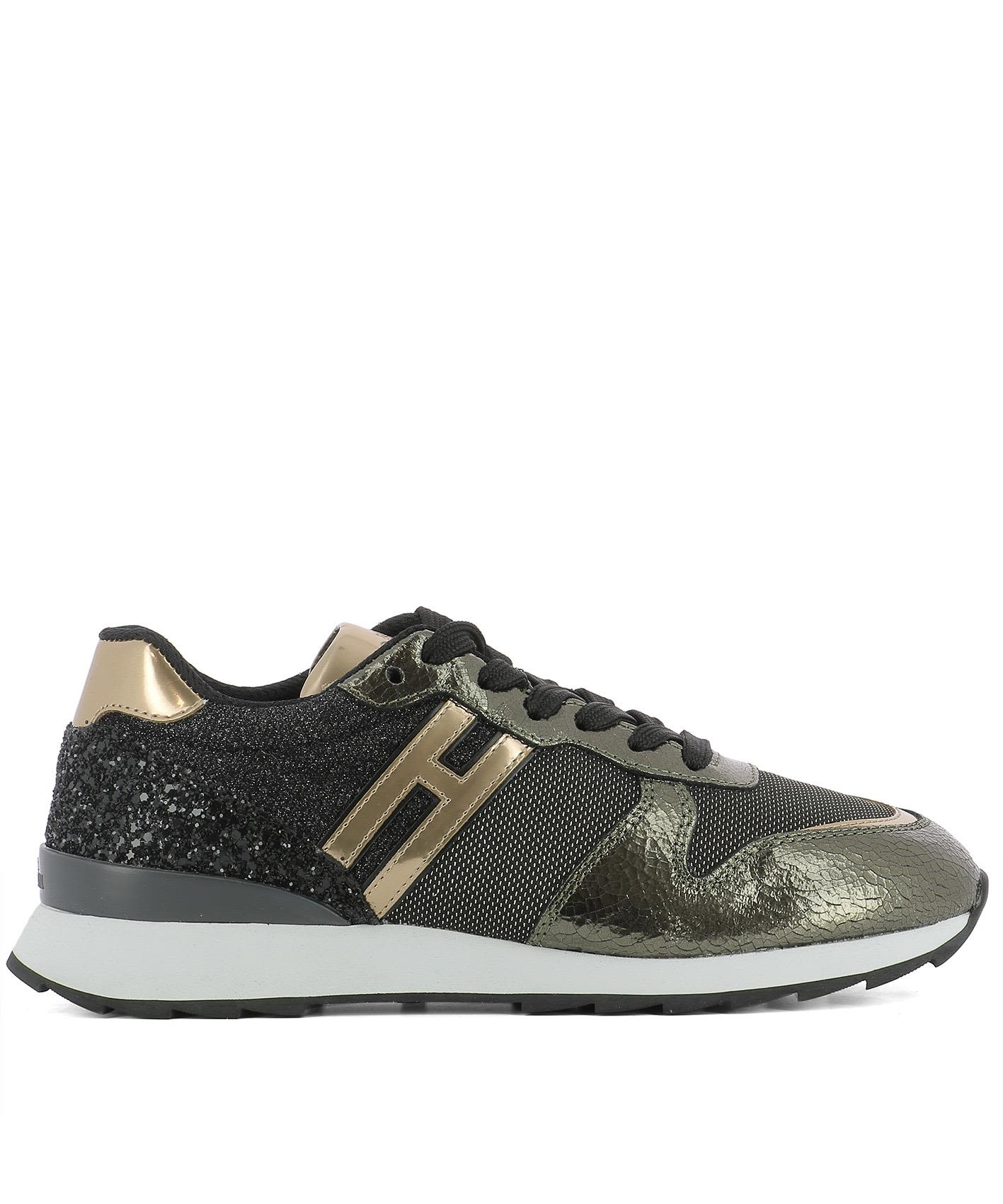 Gold Fabric Sneakers