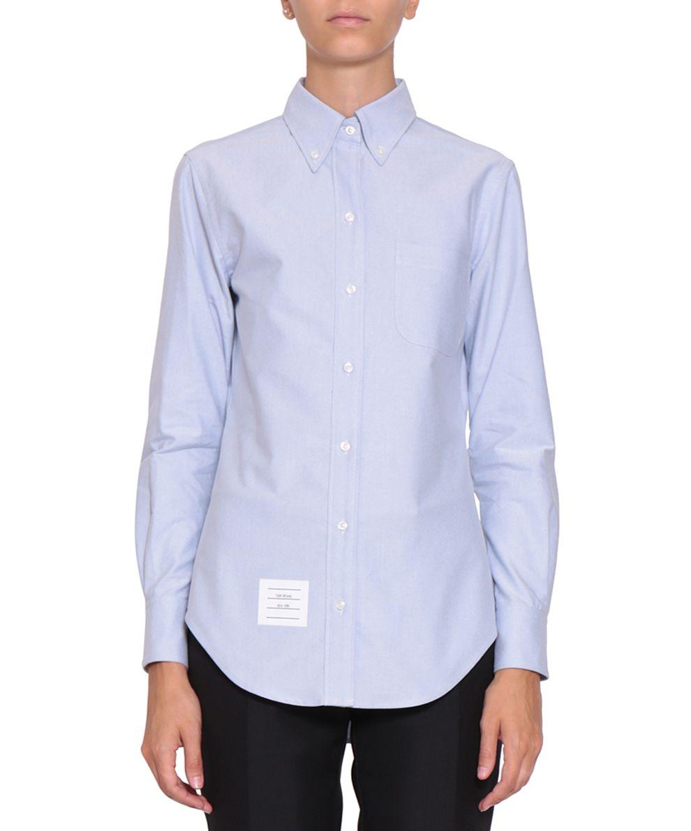 Thom browne thom browne oxford cotton shirt azzurro for Thom browne shirt sale