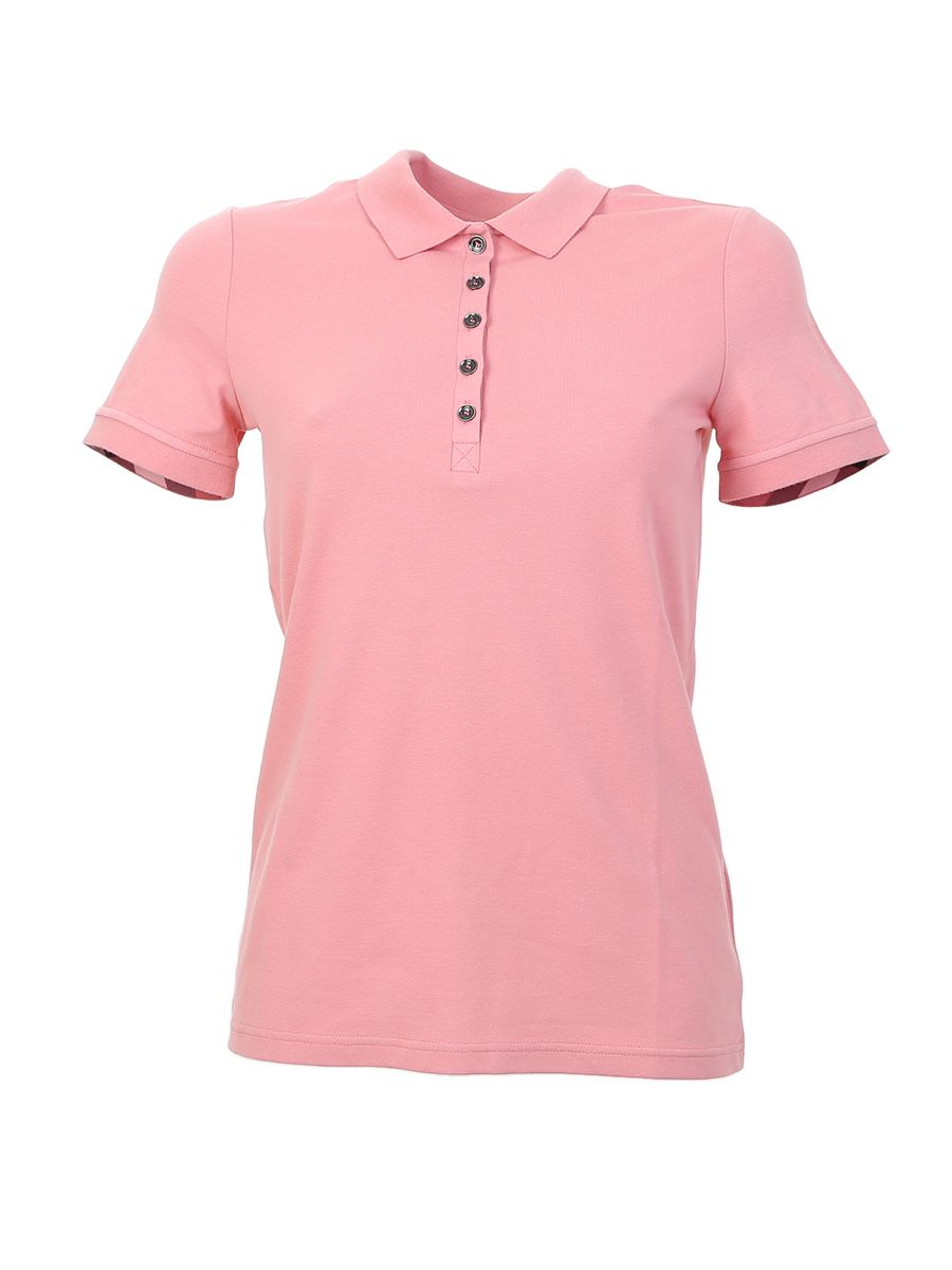 Pink Cotton Stretch Polo
