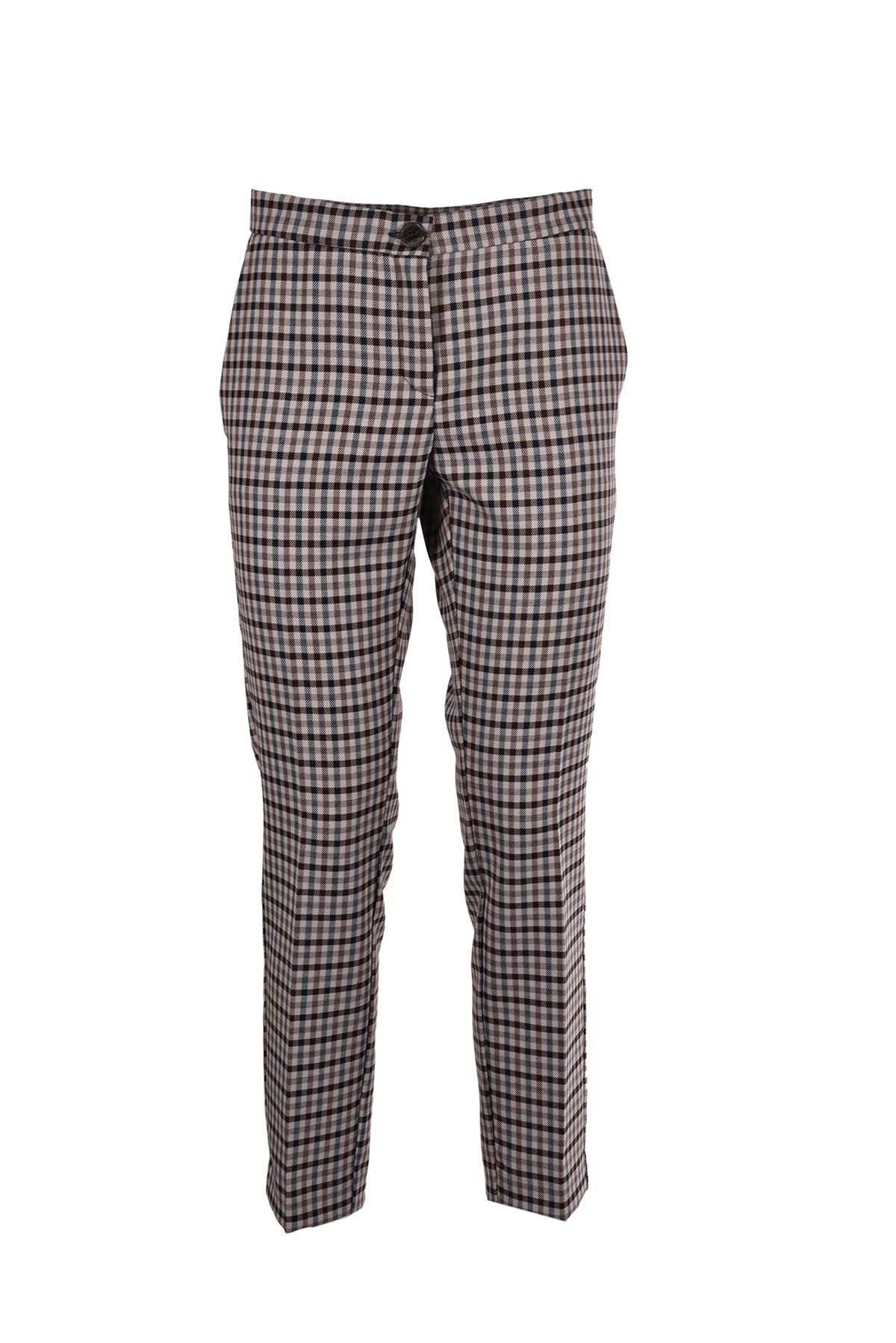 Erika Cavallini Checked Cropped Trousers