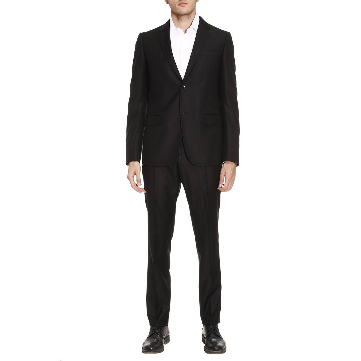 Suit Two-button Monaco Suit In Stretch Wool With 19 Bottom