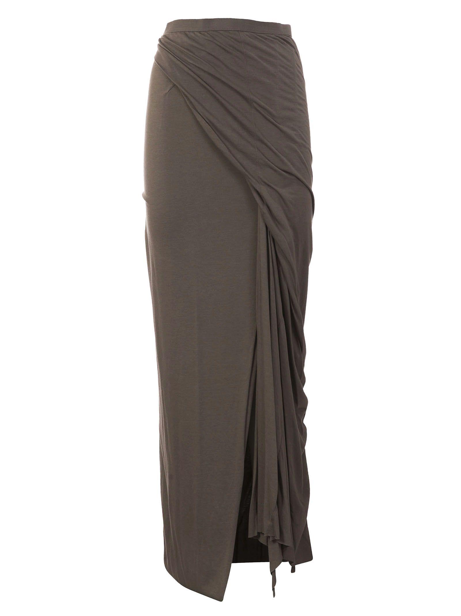 Rick Owens Lilies Side Slit Skirt