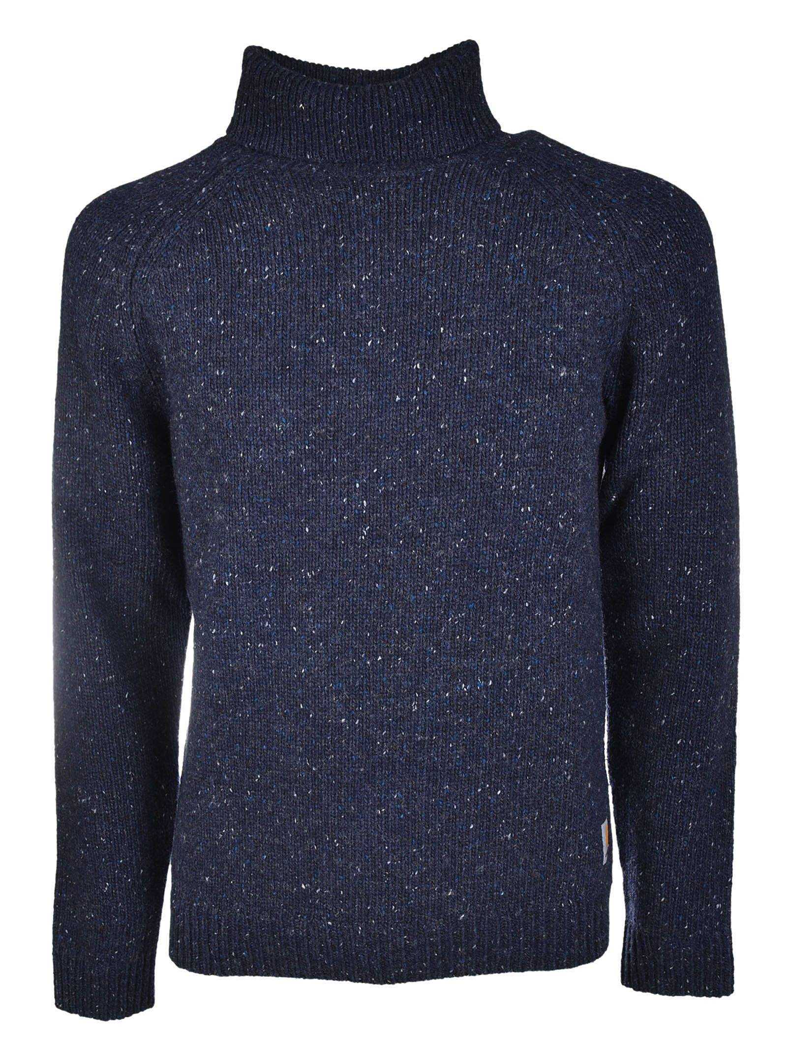 Carhartt - Carhartt Anglistic Turtleneck Sweater - Blue, Men's ...