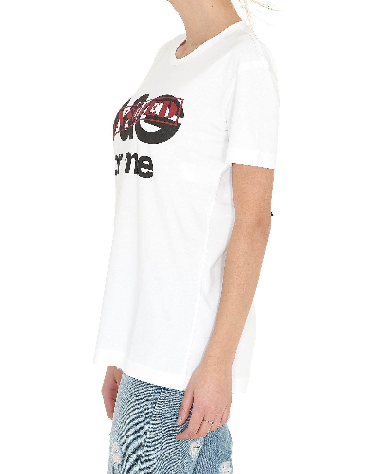 Dolce gabbana dolce gabbana censored tshirt white for Dolce gabbana t shirt women