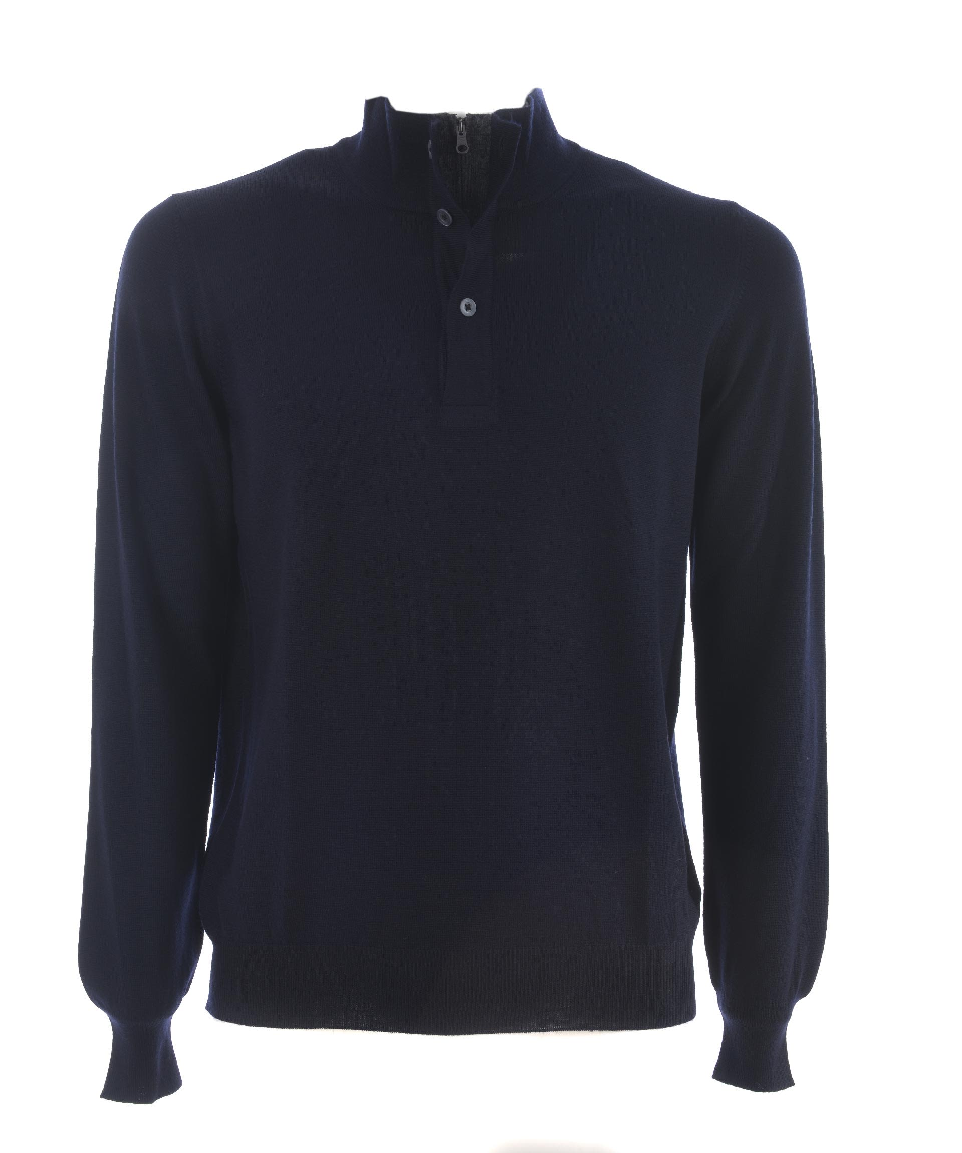 Fay Buttoned Neck Sweater