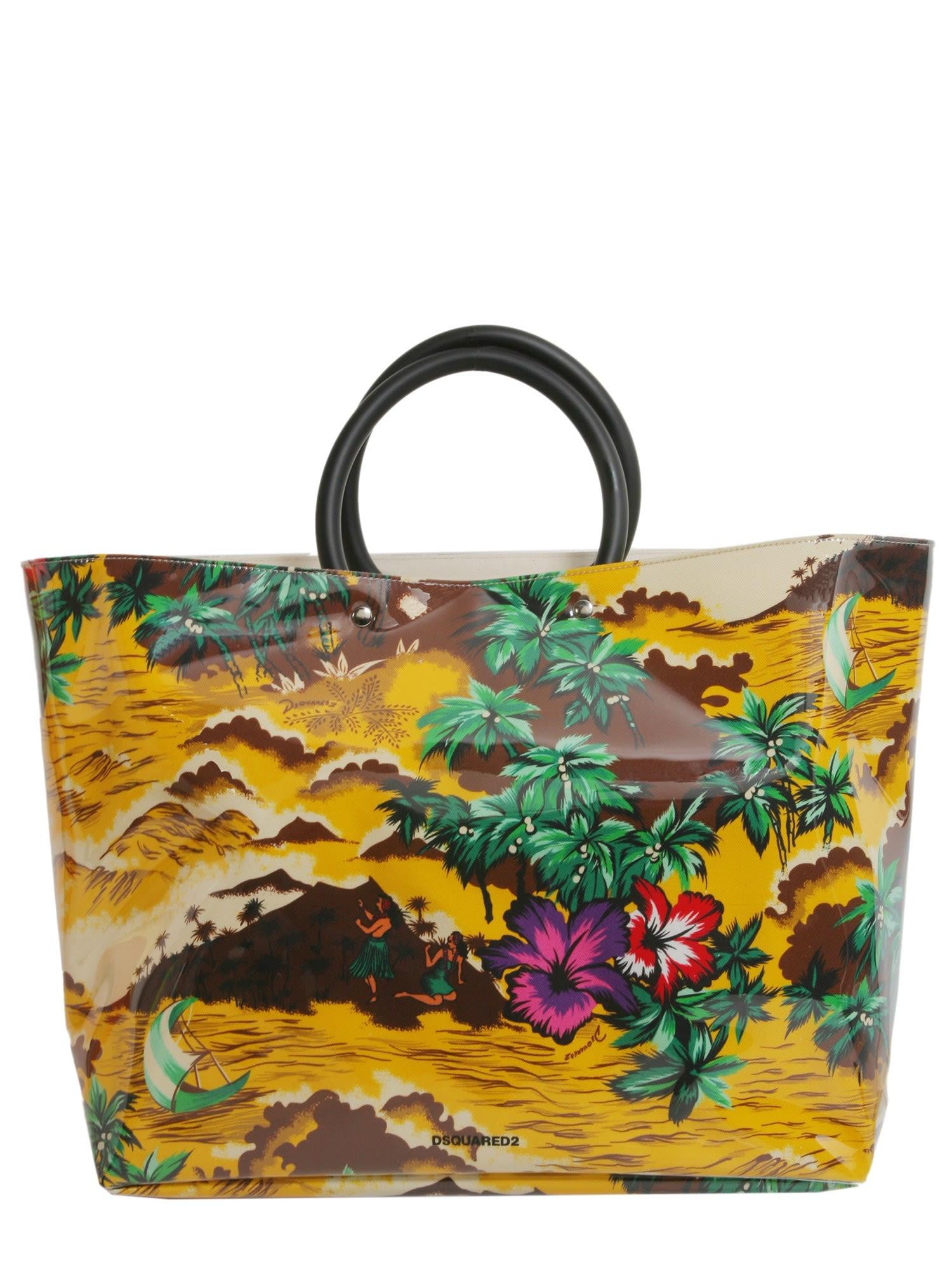 Desert Printed Pvc Shopping Bag