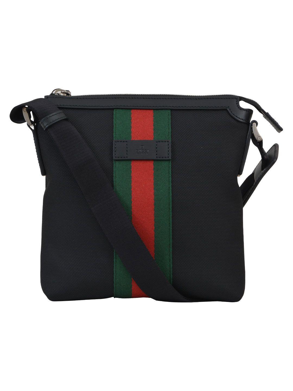 Gucci Gg Web Messenger Bag