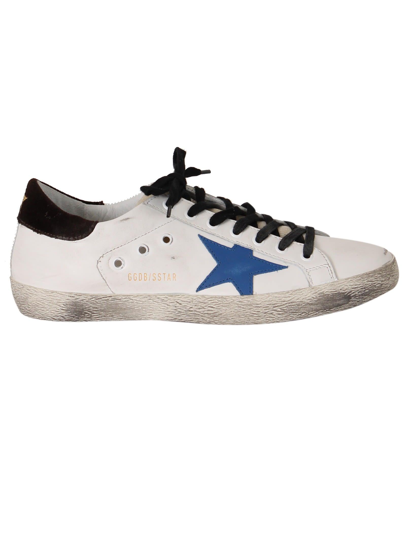Golden Goose White Bluette Superstar Sneakers