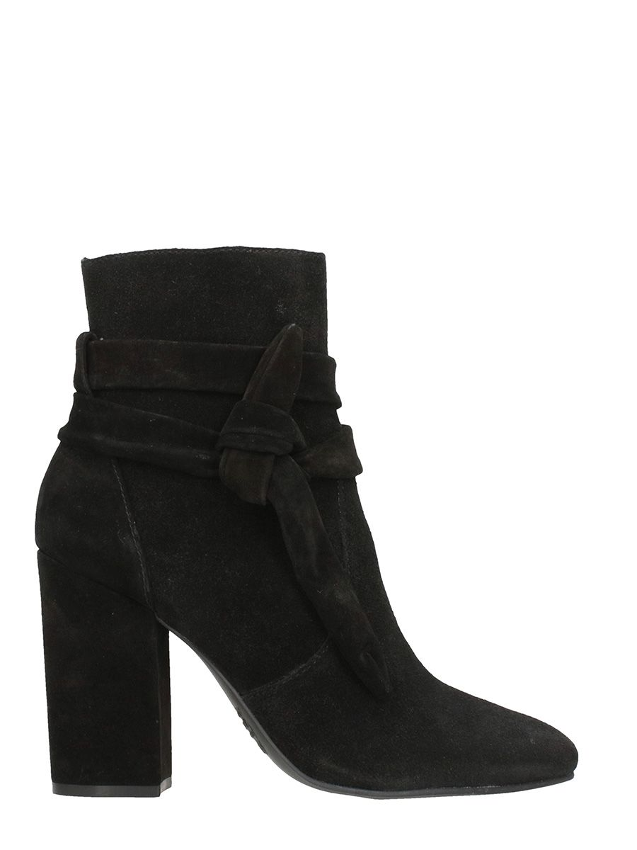 Schutz Black Suede Leather Boots