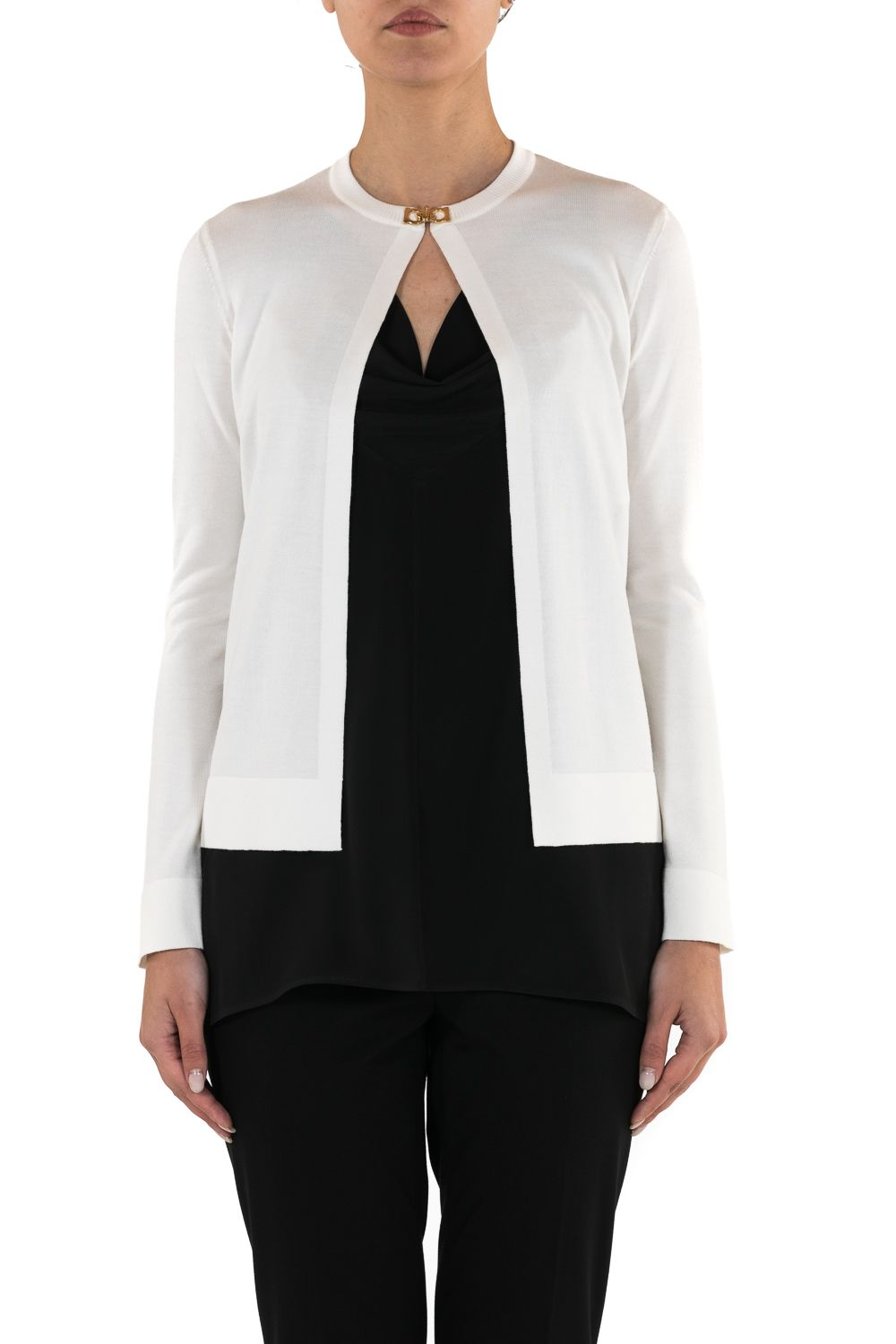 Salvatore Ferragamo White Cardigan