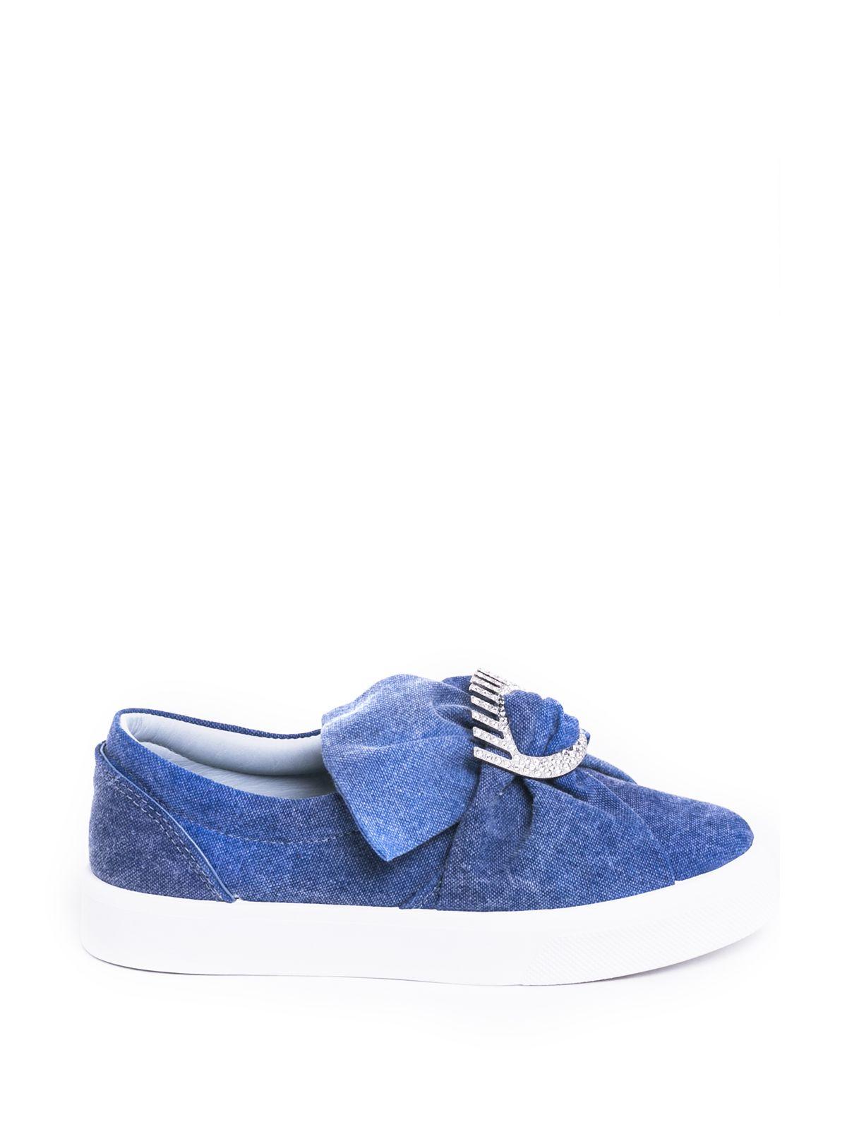 Chiara Ferragni Oversized Bow Slip-on Sneakers