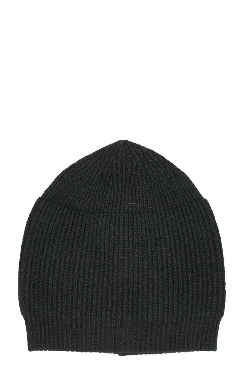 Rick Owens Small Black Wool Beanie